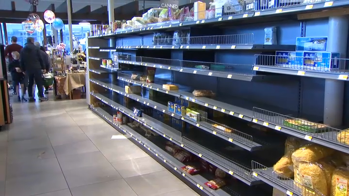 Example of empty shelves, NBC Bay Area