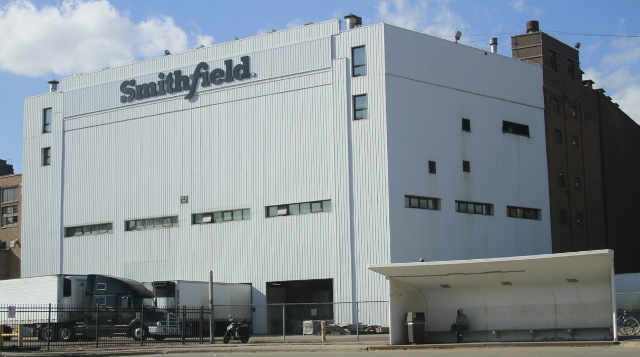 The Smithfield Foods pork processing plant in Sioux Falls, SD